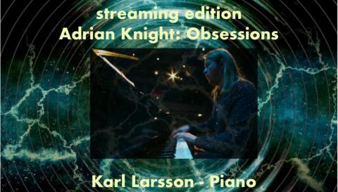 Poster for the concert with Karl Larson playing the piano